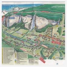 Карта территории коммуны. Лаутербруннен, Швейцария